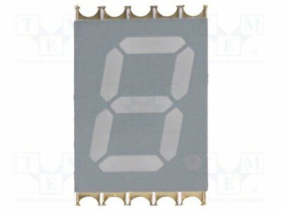 1 pcs Display: LED; SMD; 7-segment; 10mm; white; 24-40mcd; anode; 0.39""