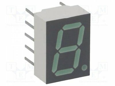1 pcs Display: LED; 7-segment; 10mm; green; 1.03-3.5mcd; cathode; 0.4""