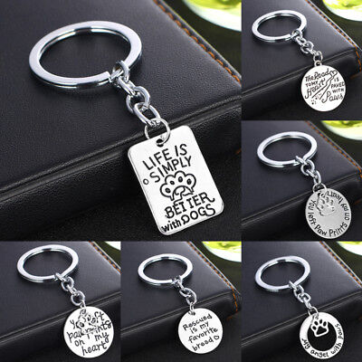 Memory Silver Keyring Dog Cat Pet Lover Pendant Keychain Key Chain Charm Dog Tag
