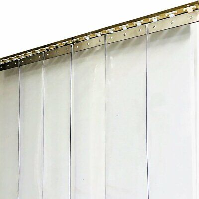 PVC Strip Curtain 2000 x 900mm Plastic Door Curtains - 150mm x 2mm Clear Strips
