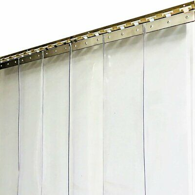 PVC Strip Curtain 900x2000mmH Clear Plastic Door Curtains Strips: 150mm x 2mm