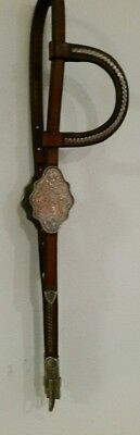 VintageCircle Y Silver Show One Ear Headstall - Large Silver Buckles