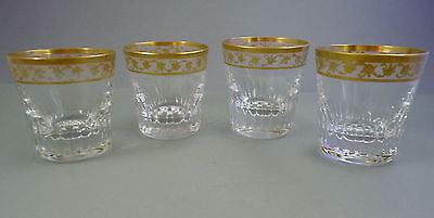 4 Whiskeybecher Gläser Kristall Saint St. Louis  Callot or - kein Thistle