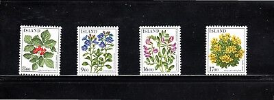Iceland 1985 Flowers SG 657/60 MH