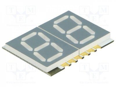 1 pcs Display: LED; SMD; 7-segment; 14.22mm; red; 21-76mcd; anode; 0.56""