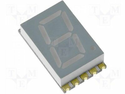 1 pcs Display: LED; SMD; 7-segment; 10.16mm; red; 8-26mcd; anode; 0.4""