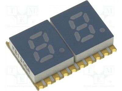 1 pcs Display: LED; SMD; 7-segment; 5.08mm; red; 8-30.4mcd; anode; 0.2""