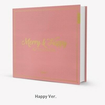 Twice -[Merry & Happy]1st Repackage Happy Ver CD+Book+Card+PreGift+Free Tracking