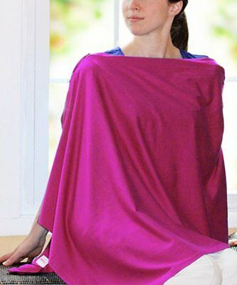 Zipped Up Nursing Cover Full Coverage Poncho Style 100% Cotton - Soft and Light