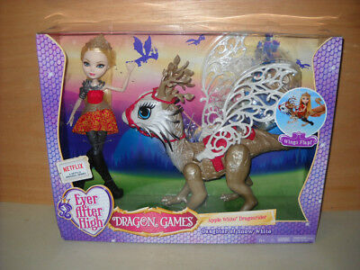 BNIB Ever After High Dragon Games Featuring Apple White Doll & Dragonrider