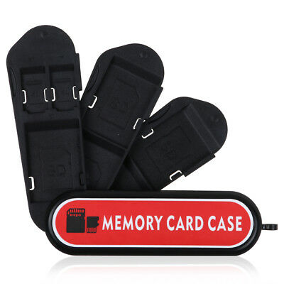 7 in 1 Micro SD TF Memory Card Storage Box Protector Holder Hard Case Black