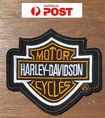 Harley large logo Biker Motorcycle Vest Embroidered Patches Badge Iron Sew On