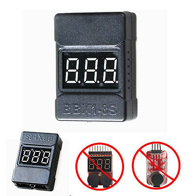 BBX1-8S RC Lipo Batterie Spannung Tester Low Voltage Buzzer Alarm LED Indicator