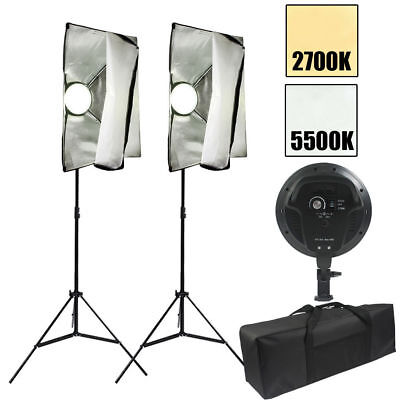 Photography Studio LED Dimmable Diffuser Softbox Continuous Lighting Stand Kit