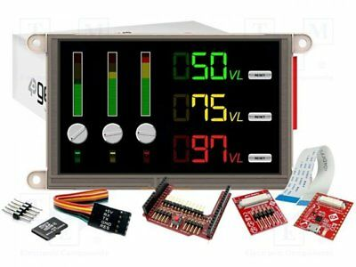 "1 pcs Dev.kit: with display; Resolution:800x480; 5""; 110.88x62.83mm"