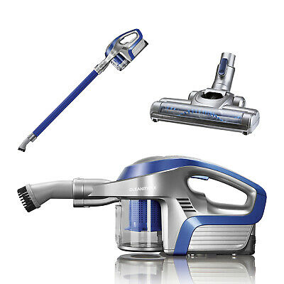 CLEANmaxx battery cyclone vacuum cleaner 2 in 1 14 .8V blue/silver