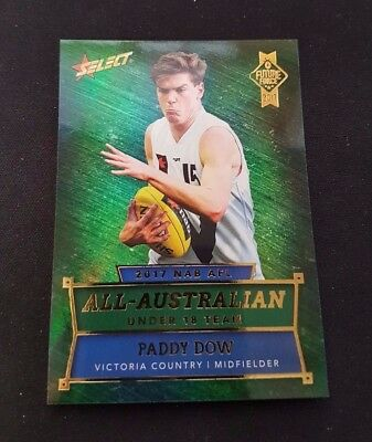 2017 Afl Select Future Force All Australian Under 18 Paddy Dow Aa9 Carlton Blues