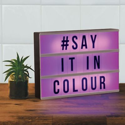 Colour Changing Light Up Message Board A4 Cinematic Lightbox