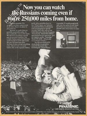 Watch the Russians coming-PANASONIC portable TV-1969 Vintage Print Ad