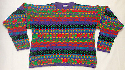 Streets ahead acrylic jumper 10 to 11 years kids retro vintage striped
