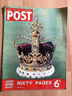 Vintage Picture Post Magazine : 23rd February 1952 Vol.54 No.8 Royal, Queen
