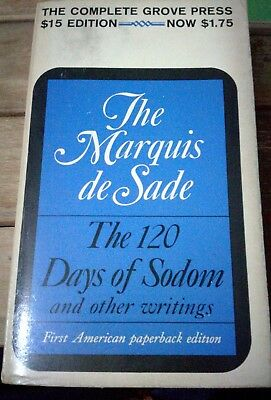 The Marquis De Sade - The 120 Days Of Sodom - First American Paperback Edition