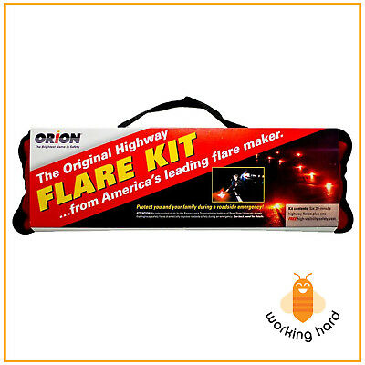 ROAD FLARE KIT 20 Minutes Flares Safety Emergency Highway Traffic Car PACK OF 6