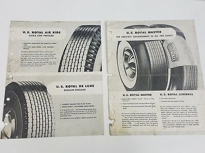 Vintage 1953 United States Rubber Company Royal Tires Advertisements Price Lists