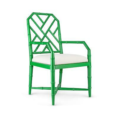 Bungalow 5 Jardin Traditional Emerald Green Lacquered Mahogany Armchair Set of 2