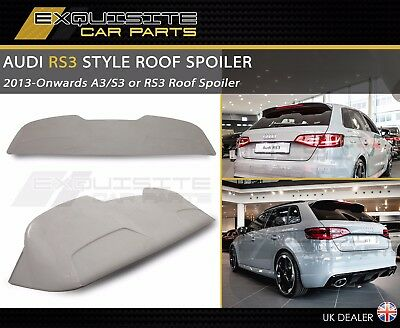 AUDI A3 RS3 S3 STYLE ROOF SPOILER 8V Sportback & Saloon 2013 (UK)