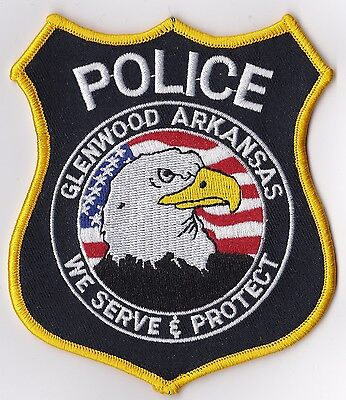 Glenwood Police Patch Arkansas AR NEW!!   The last one in stock!