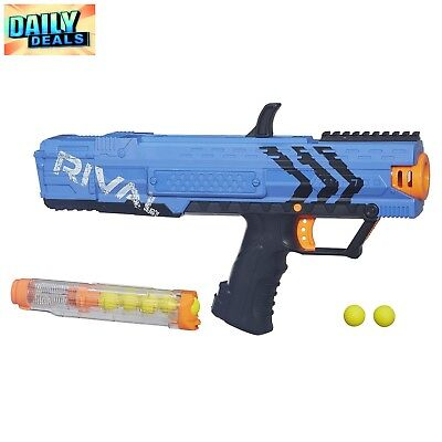 Nerf Rival Blue Apollo XV-700 Blaster Spring Action Dart Gun Toy 7 Impact Rounds