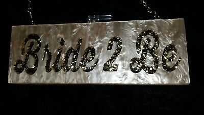 Bride 2 be lucite clutch by clutchhitz