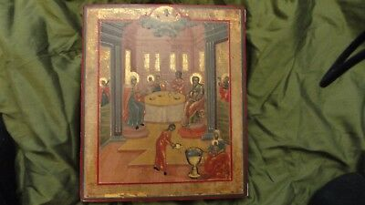 Antique Russian Icon 18 Century  Nativity Mother Of God