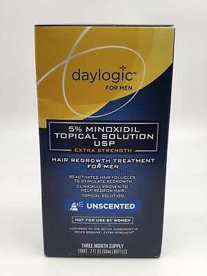 Daylogic Hair Regrowth Treatment for Men 5% Minoxidil - 3 Month EXP. 11/18