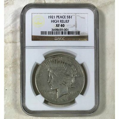 1921 Peace Dollar High Relief NGC XF40 ***Rev Tye's Stache*** #9001110
