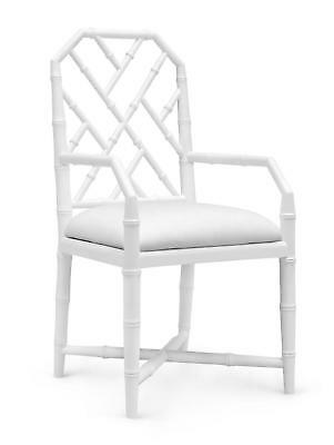 Bungalow 5 Jardin Traditional White Lacquered Mahogany Armchair Set of 2
