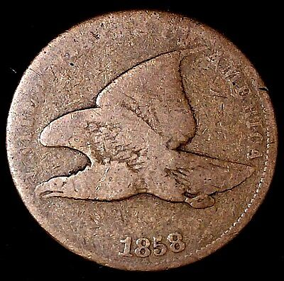 1858 sl 1C  Flying Eagle Cent atl  Only 50 Cents for Shipping