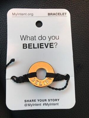 MyIntent Word Bracelet Intent BELIEVE New still in original package