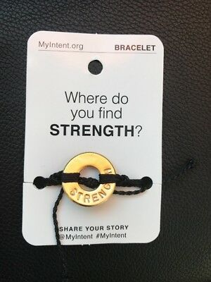 MyIntent Word Bracelet Intent STRENGTH New still in original package