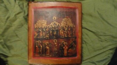 Antique Russian Icon 18 C  Pokrov Mother Of God