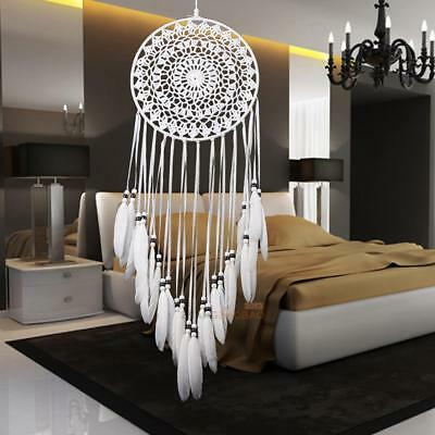 Handmade Lace Dream Catcher With Feathers Car Wall Hanging Craft Decor Ornament
