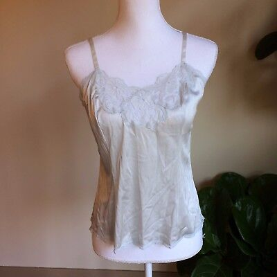 Vintage VTG Nordstrom Womens US 2 Sz 34 Baby Blue Lace Camisole Tank Top