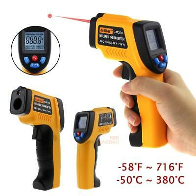 Digital LCD Temperature Gun Non-contact Infrared IR Laser Thermometer Temp Meter