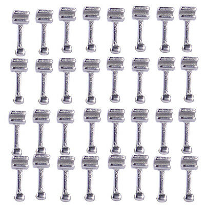5 Packs 50x Dental Orthodontic Stainless Steel Crimpable Sliding Hook Long Type