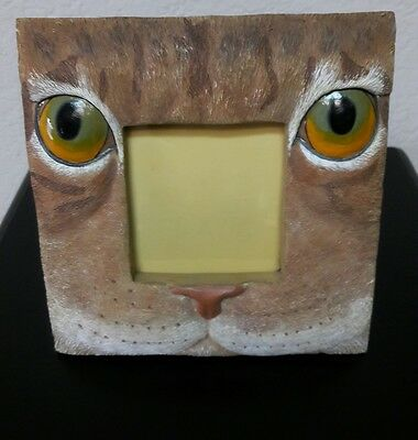 Cat Ceramic Picture Frame Kitten Kitty Face Head Animal Eyes