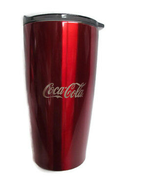 Coca-Cola Stainless Steel Red Double-Walled Insulated Tumbler 20 oz - BRAND NEW