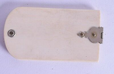 charming georgian carved bovine victorian note pad - antique 19th century