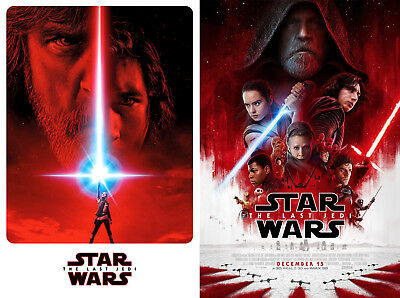 "Lot - Set of 2 ""STAR WARS"" Movie Poster 24X36 - EPISODE VIII - ""THE LAST JEDI"""