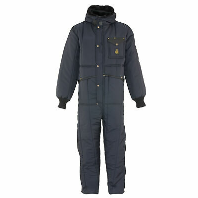 RefrigiWear Men's Iron-Tuff Insulated Coveralls with Hood -50F Cold Protection